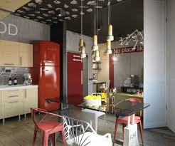 Designs by Style: Modern Office Nook With Dark Red Decor - Dark Accent  Colors