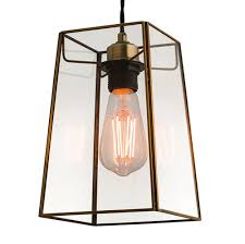 beaumont light shade antique brass lamp shade only clear glass 60892 30 72