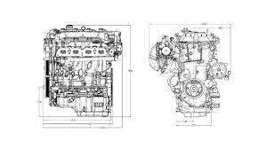 Engine Dimensions Chart 2 5l Lcv Four Cylinder Engine