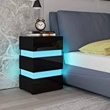 High Gloss Bedside Cabinets - Amazon.co.uk