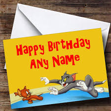 Tom Jerry Personalised Birthday Card