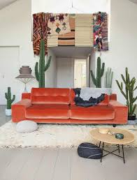Orange Couch Living Room 10 Reasons To Say Yas To A Velvet Sofa A Dash Of Fash