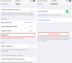 How To Reset Your Notes Password On Iphone Ipad And Mac