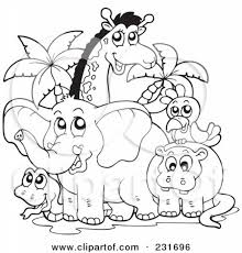 Small Picture Safari Animals Coloring Pages Getcoloringpages Intended For Jungle