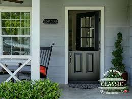 dutch door exterior fiberglass. classic style black fiberglass dutch door with 9 lite sdl clear glass. smooth surface painted exterior o