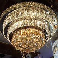 modern crystal hanging chandelier