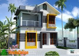 900 Sq Ft 3 BHK Double Floor Modern Home Design