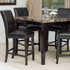 trendy black bar height dining set 1 interesting finish modern counter table optional items with storage oak and round leaf bench sets 9 piece chairs