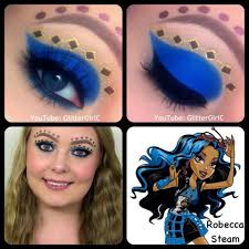 this makeup look is inspired by monster high s robecca steam d video tutorial s used urban decay primer potion makeup geek pigments in
