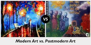 990x495 difference between modern art and postmodern art postmodern painting