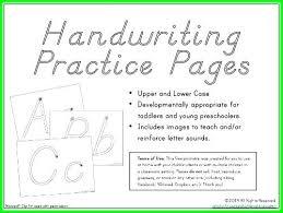 Handwriting Worksheet Maker For Kindergarten Creating Handwriting