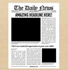 Newspaper Template Illustrator 7 Newspaper Style Templates Features Important Illustrator