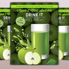 Apple Flyer Templates Health Drinks Flyer Template For Free Download On Pngtree