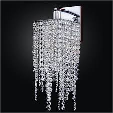 Crystal Wall Lights Cityscape 598aw Octagon Strand Wall Sconces 1 3 Lights