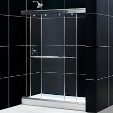 60 w x 76 h frameless sliding bypass shower door