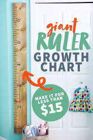 Tutorial Giant Ruler Growth Chart Cook Smarter Com