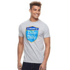 Dilly Dilly Bud Light T Shirt Mens Bud Light Dilly Dilly Tee Size Medium Med Grey In