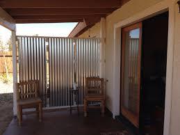 DIY corrugated privacy screen and wind break