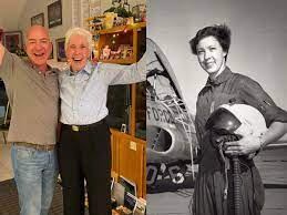 Jeff bezos Space travel: 82 year old ...