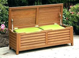 wooden garden storage box seat small outdoor bins sheds plastic patio w