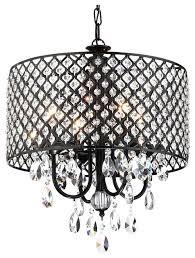 black drum shade chandelier 4 light crystal drum shade chandelier black black drum shade dining room