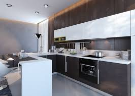 Recessed Kitchen Cabinets Kitchen Two Tone Countertop Also White And Dark Wood Kitchen