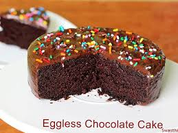 Eggless Chocolate Cake Swasthis Recipes
