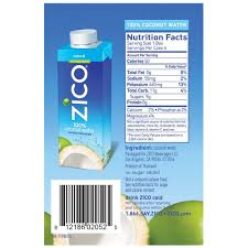 amazon zico premium natural coconut water drinks no sugar added gluten free 8 45 fluid ounce pack of 24 grocery gourmet food