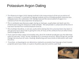 is potassium argon dating accuracy