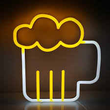 Personalized Light Up Bar Signs Neon Beer Sign Light Up Craft Beer Neon Mug Bar Lights