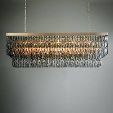 smoke crystal chandelier modern smoke crystal and black metal chandelier restoration hardware orb