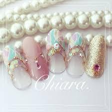 Yokoshikataキアラさんのネイルデザイン 春ネイル春カラー夏