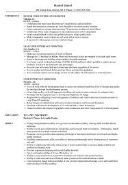 User Interface Designer Resume Samples Velvet Jobs
