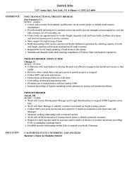 Freight Broker Resume Samples Velvet Jobs Mortgage Cover Letter S