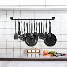 long hanging pot rack pan kitchen iron