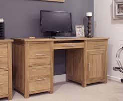 opus solid oak large double pedestal computer desk opus solid oak large double pedestal computer desk