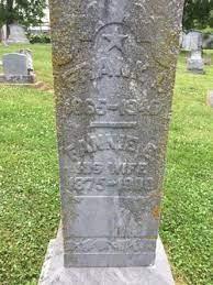 "Frances Etta ""Fannie"" Mullen Witt (1875-1900) - Find A Grave Memorial"