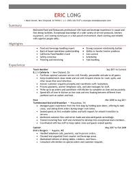 resume for restaurants gallery of fast food restaurants resume resume examples for