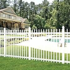 white fence panels. White Garden Fence Panels Picket Vinyl Pool Spaced Panel Kit