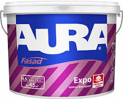 <b>Краска В/Д AURA FACADE</b> для фасадов износостойкая 4,5л
