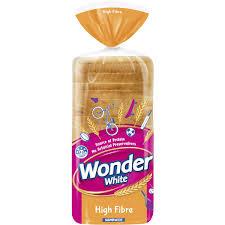 Wonder White White Hi Fibre Sandwich Slice Bread 700g Woolworths