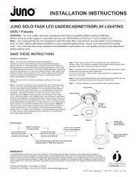 Juno Lighting Phone Number Installation Instructions Juno Solo Task Led Undercabinet