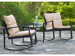 3 pieces patio set outdoor wicker patio