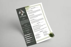 Botanical Resume Letterhead Template By Visualcolony On Envato