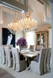 double chandelier over dining table hanging