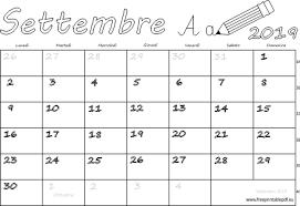 Calendario Settembre 2019 Stampabile Pdf Liberi Di Stampa