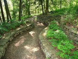 path through gardens trees