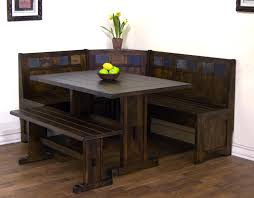 interior kitchen table and chairs set with booth dining room sets corner bench seating black leather