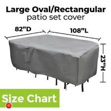 Details About Xl Patio Furniture Cover M H Extra Large Set Cover Round Table Chairs Outdoor