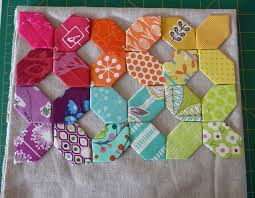 best hexies images on Pinterest   English paper piecing     Connecting Threads     English Paper Piecing Blocks From The New Hexagon English Paper Pieced  Quilt Patterns Free English Paper